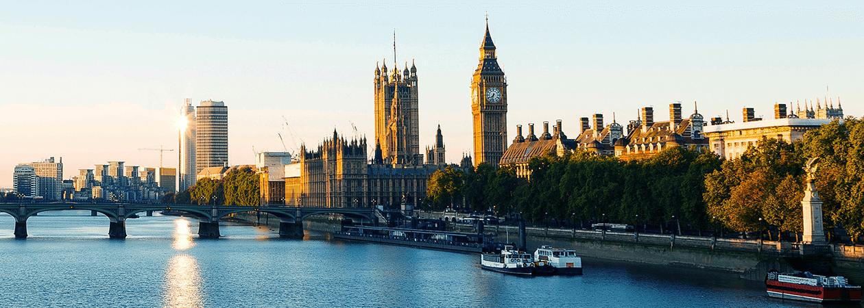 Visão do Big Ben em Londres